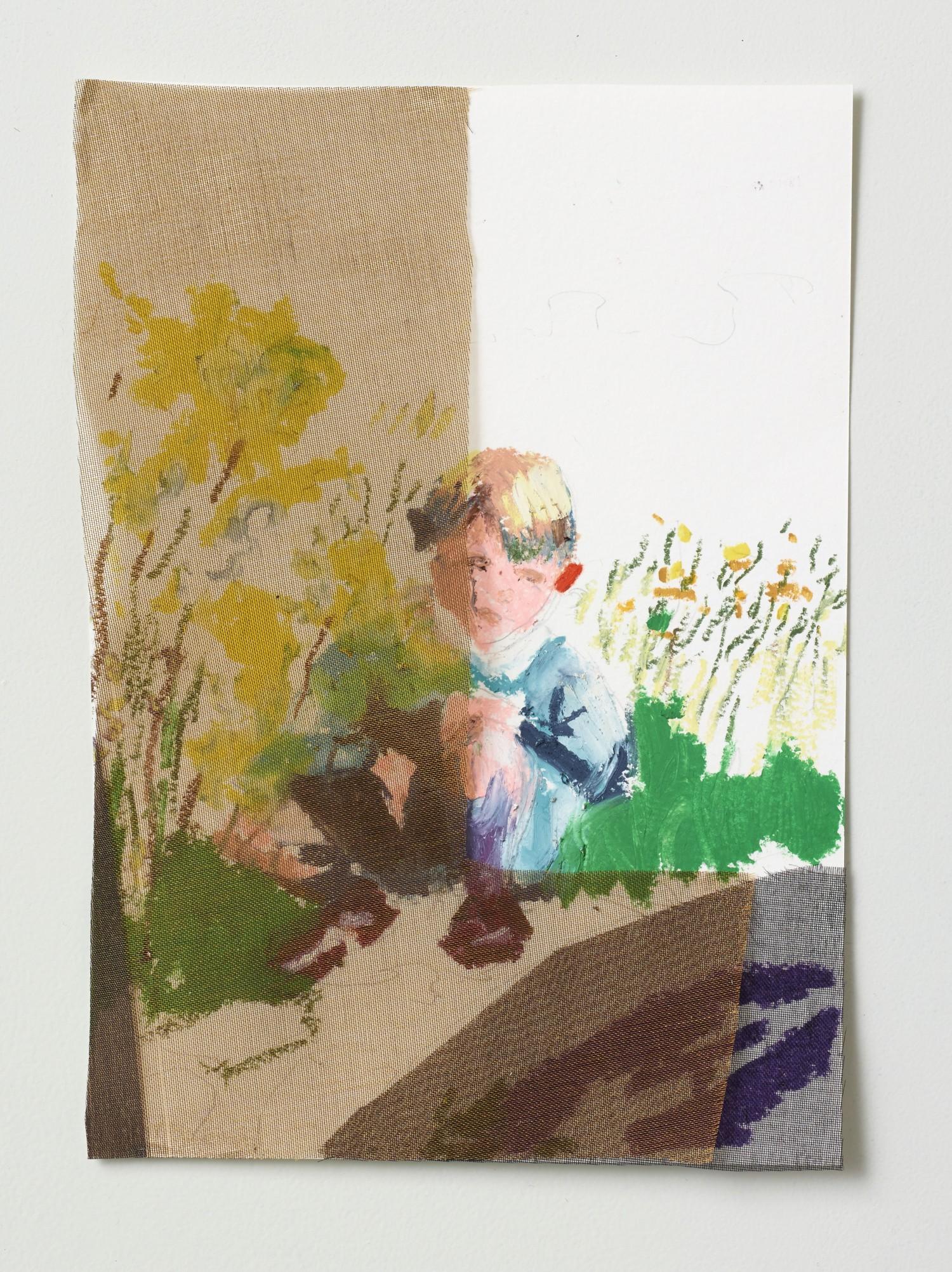 Børnetegning 4/28 (Kidsdrawing), 14 x 17 cm, 2015