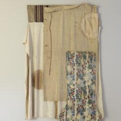 Occident, textile collage. 148 x 260 x 17 cm