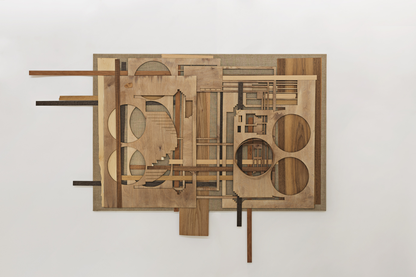 Kultur (Culture), wood senere on canvas, 195 x 165 x 6 cm, 2017