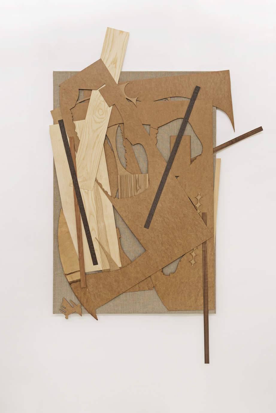Kultur II, (Culture II), wood venere on canvas, 200 x 175 cm, 2018